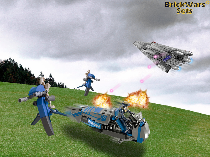 Brickwars Sets Gunning For The Enemy Commander Lego Star Wars Free Wallpaper
